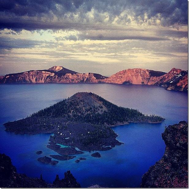 Gaze into the deep blue waters of Crater Lake