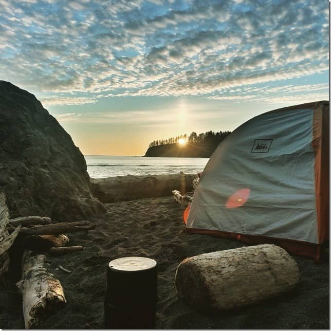 Camp next to the roar of the Pacific Ocean at Third Beach