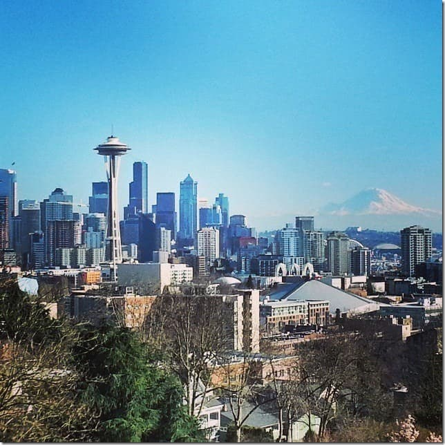 Seattle from Queen Anne's Kerry Park - 49 Places to Visit on the Ultimate West Coast Road Trip