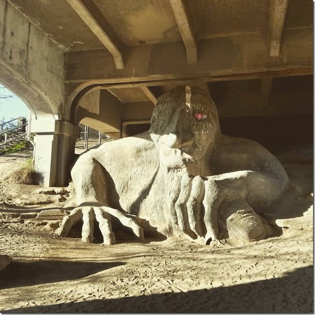 Explore the weird side of Seattle - Fremont Troll - 49 Places to Visit on the Ultimate West Coast Road Trip