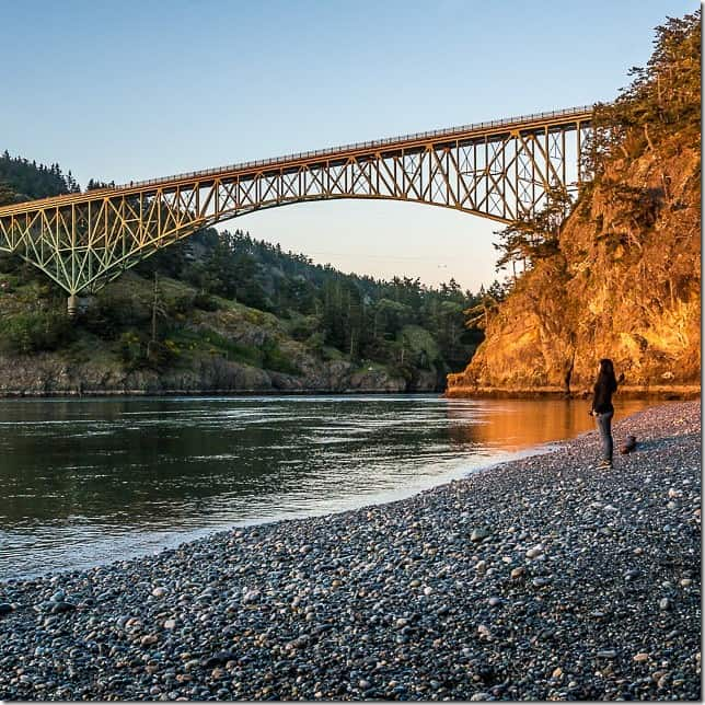 Stand below Deception Pass - 49 Places to Visit on the Ultimate West Coast Road Trip