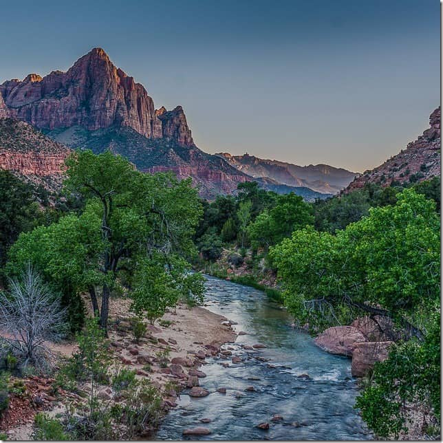 Stand before the Watchman and the Virgin River