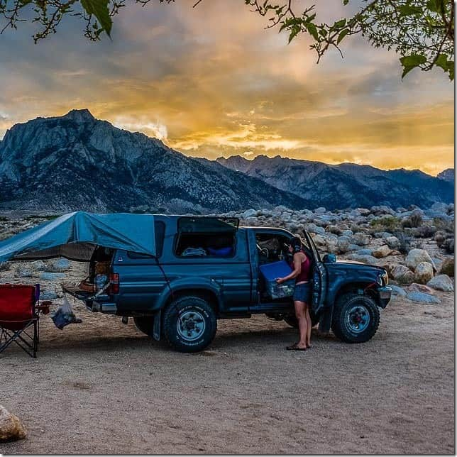 Camping below Lone Pine Peak at the Tuttle Creek Campground (California)
