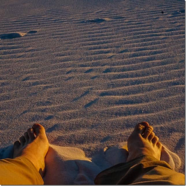 Put your feet in the whitest of sand at White Sands National Monument, New Mexico