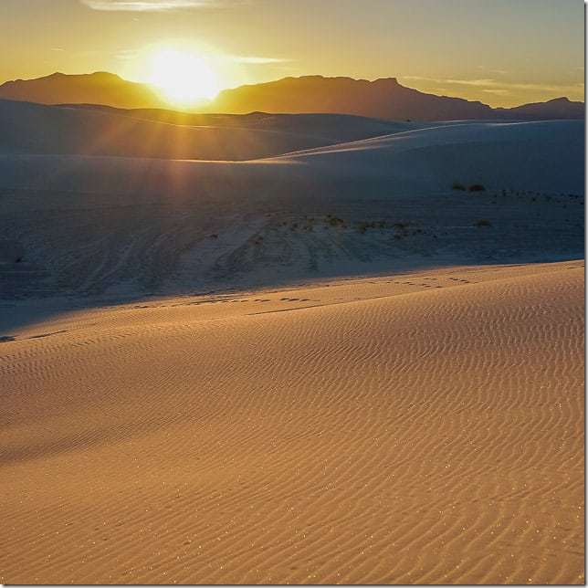 Put your feet in the whitest of sand at White Sands National Monument, New Mexico - 49 Places to Visit on the Ultimate West Coast Road Trip