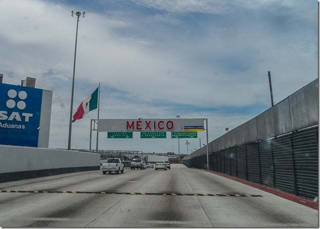 tijuana border crossing - driving to tijuana