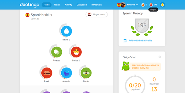 duolingo - 29 Best Productivity Tools