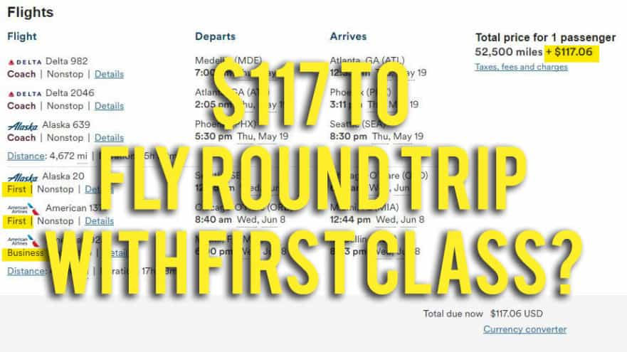 $117 to Fly Overseas, Round Trip with First Class?