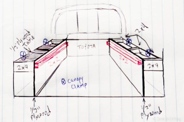 Ultimate Truck Camper Build Sketch
