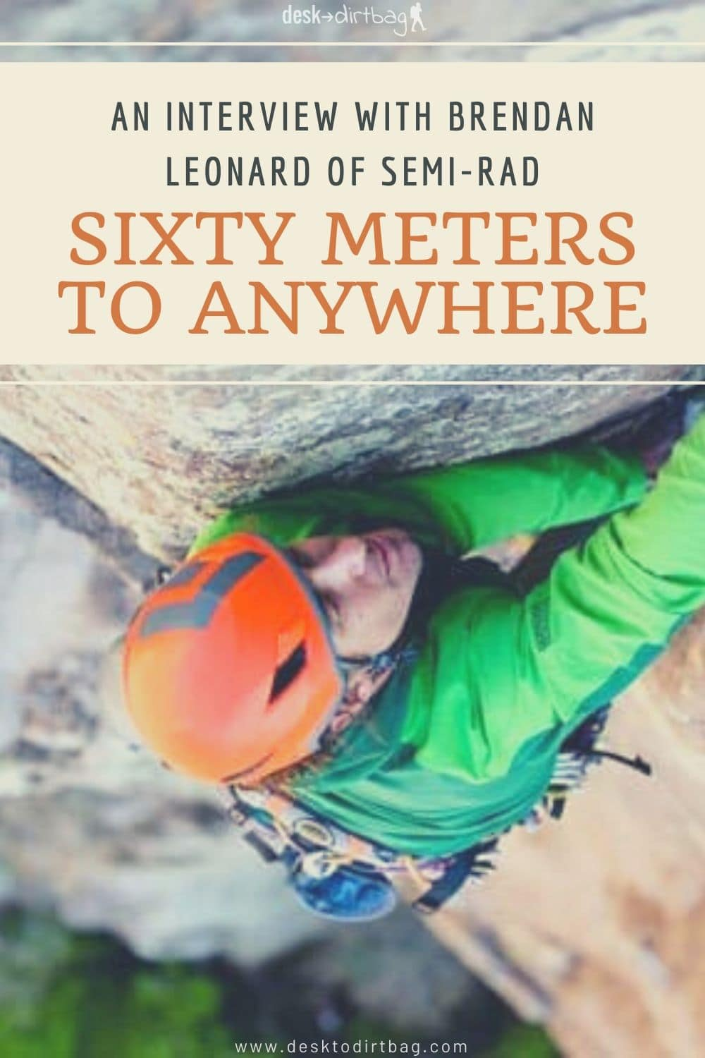 Sixty Meters to Anywhere: An Interview with Brendan Leonard of Semi-Rad books, armchair-alpinist