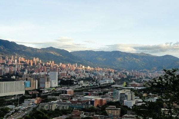 The view of Medellin, Colombia - how to travel the world on a budget