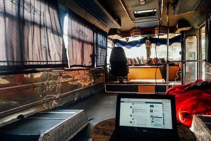 Hanging out in the bus- Awesome things to do in San Gil Colombia