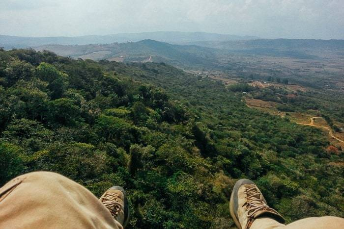 My feet hanging over the valley - Awesome things to do in San Gil Colombia