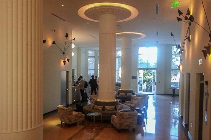 Art deco lobby of the Metropolitan by COMO Miami Beach
