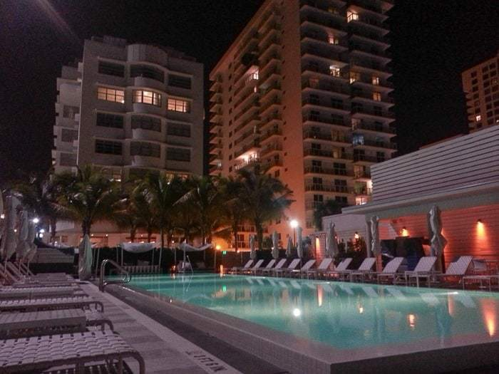 The Metropolitan by COMO Miami Beach and its ground floor heated pool