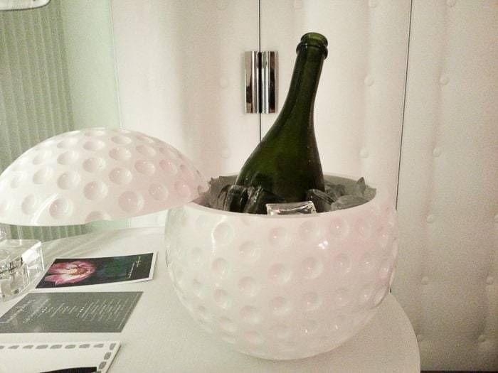 A little champagne on ice at the Metropolitan by COMO Miami Beach