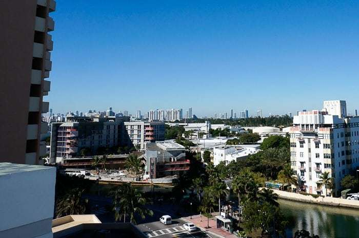 View of downtown Miami from the Metropolitan by COMO Miami Beach