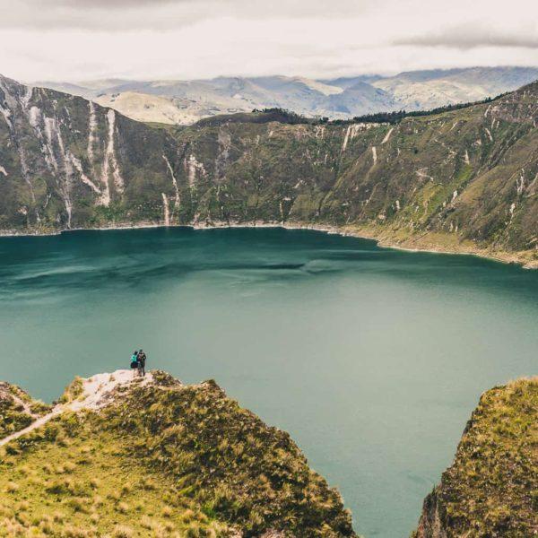 Looking over Quilotoa in Ecuador