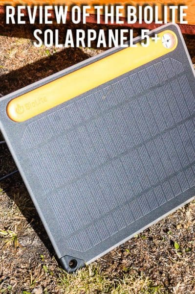 Staying charged while hiking and backpacking with the BioLite SolarPanel 5+