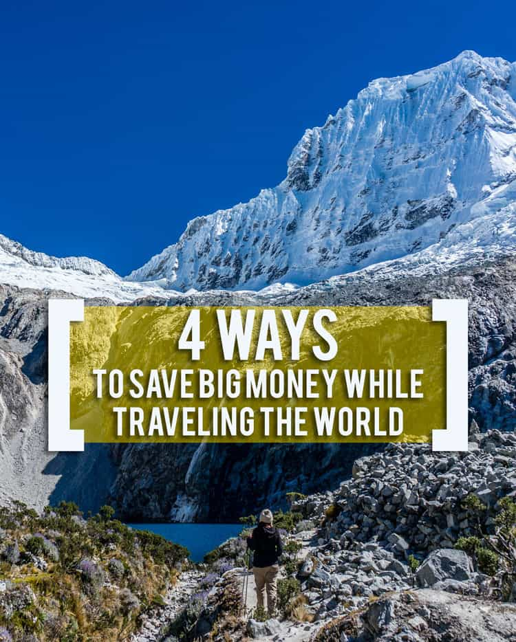 Everyone asks me after traveling for four years how to travel on a budget. Well, taking the trip of your dreams doesn't have to be expensive -- here are four ways to save BIG money while traveling.
