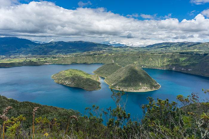 Some people say the Cuicocha Lake name comes from the islands in the middle