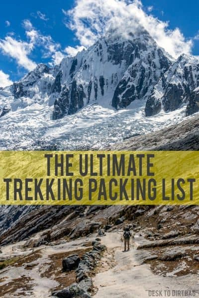 If you're new to the world of hiking or trekkiing, it can be tough to know what to bring along, that's why I created the ultimate trekking packing list.