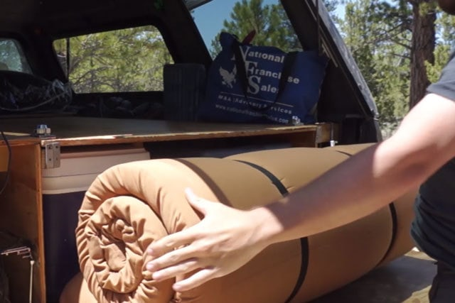 The current truck bed mattress that I'm using - Teton Sports XL