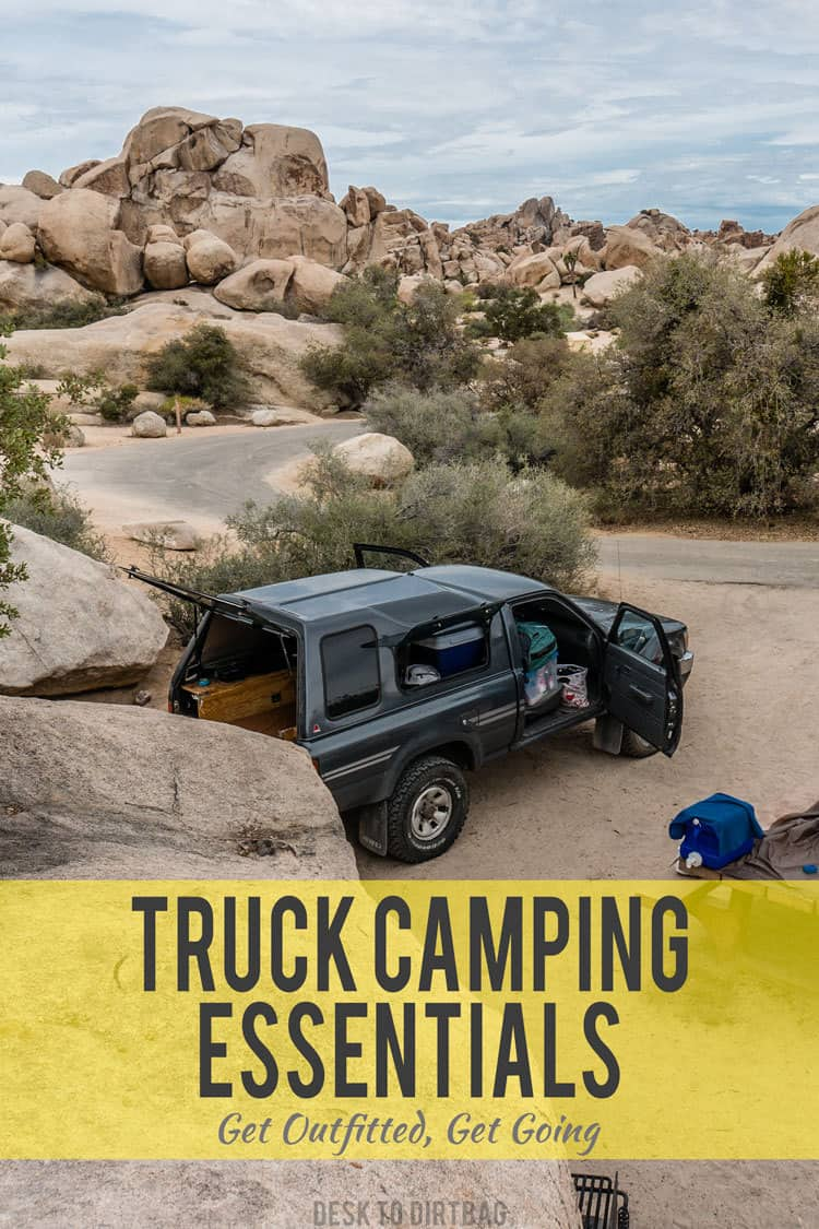 Get your truck camping essentials at the Desk to Dirtbag Truck Camping Store - www.desktodirtbag.com