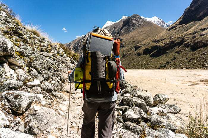 Me all geared out on a five day trek - Trekking Packing List