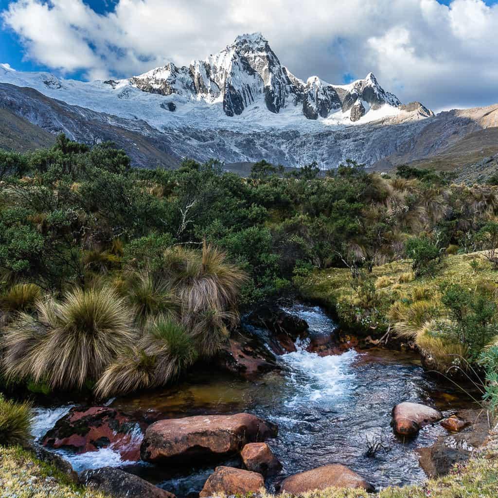 Taulliraju along the Santa Cruz Trek in Peru