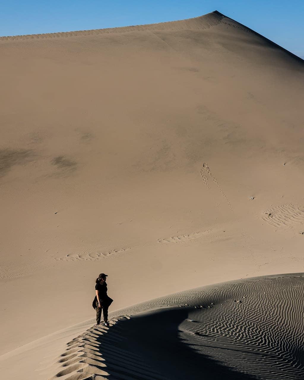 Sand dunes outside of Huacachina, Peru