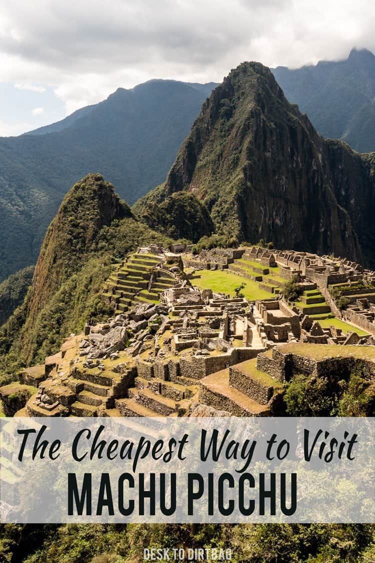 Most people spend an arm and a leg to visit Machu Picchu, but you don't have to if you are traveling on a budget... Here's the cheapest way to visit Machu Picchu