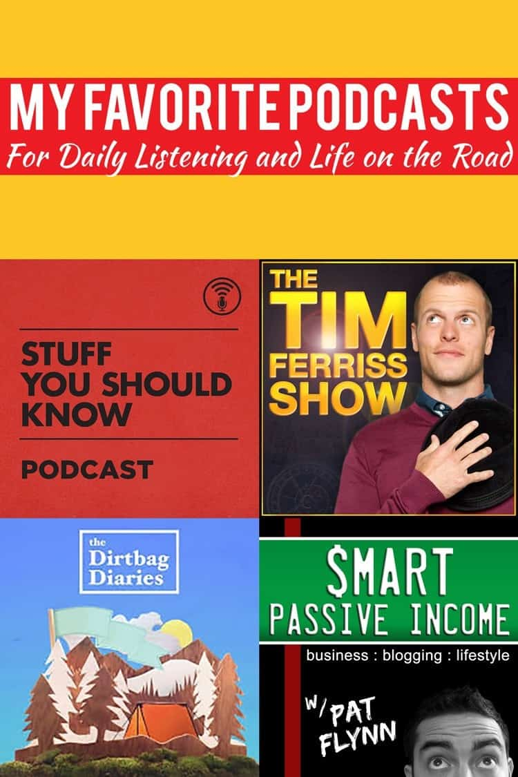 These are a few of my favorite podcasts for regular listening while I'm on the road...