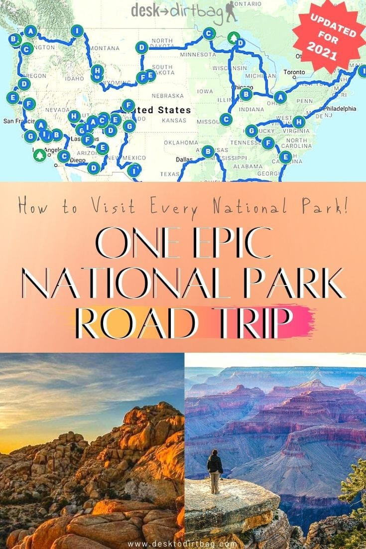 One Epic National Park Road Trip Across the USA travel, road-trip, north-america
