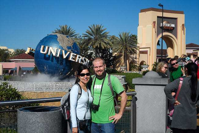 Andrea and me Universal Studios - Places to Visit in Orlando Florida