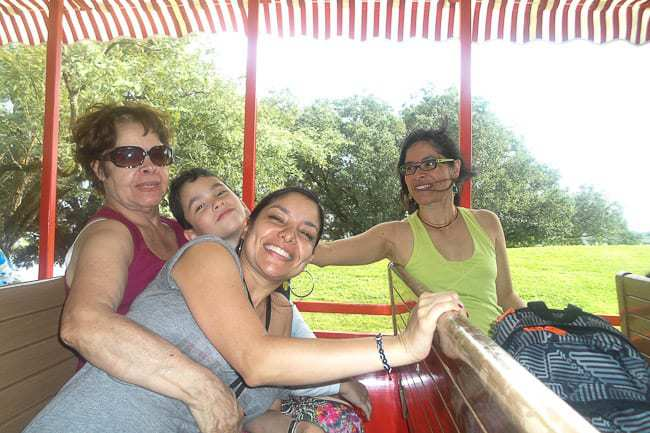 Riding the theme park train transport - Places to Visit in Orlando Florida