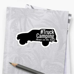 Truck Camping Sticker