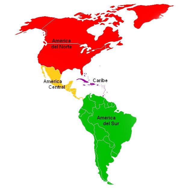 Regiones según la ONU - países de Centroamérica