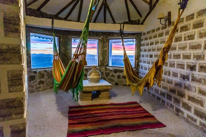 Sala de descanso - hotel de sal Luna Salada