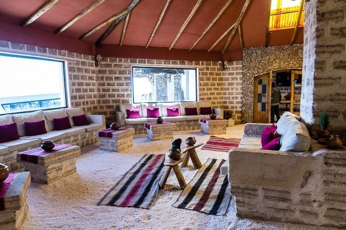 Sala recepción - hotel de sal Luna Salada