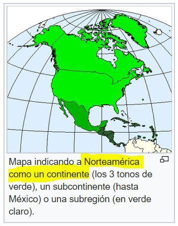 mapa de norteamerica