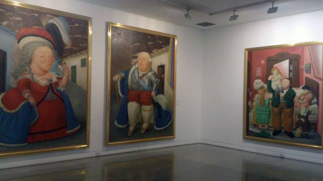 The works of Fernando Botero, Colombia's top artist. The museum is one of the coolest things to do in Bogota