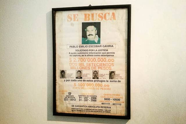 Pablo Escobar in the Police Museum, one of the top things to do in Bogota