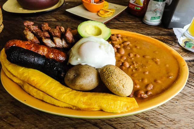 The infamous bandeja paisa - What to Eat in Colombia, a Guide to Colombian Food