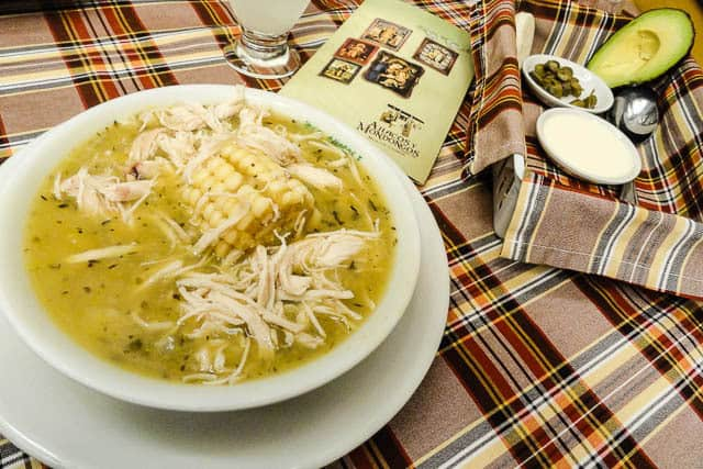 A delicious ajiaco soup - What to Eat in Colombia, a Guide to Colombian Food