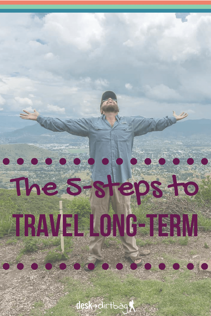 Everybody is looking for shortcuts, secrets, and formulas for how to travel more... Well, here it is! Five simple steps that will take you from a debt-ridden working stiff to a globe-trotting wanderer. The steps might be simple, but they aren't always easy to implement in practice.
