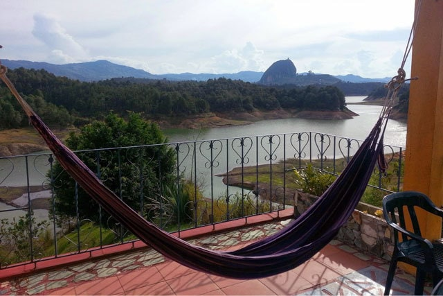 View while traveling in Guatape, Colombia (Travel Banking 101)