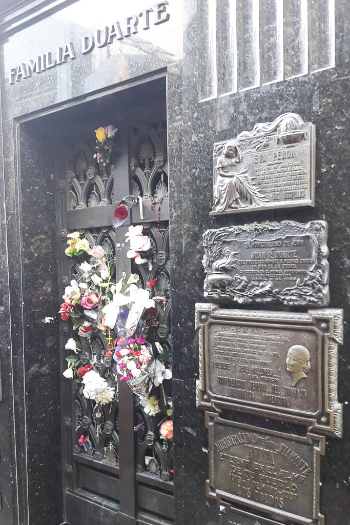 Duarte Family grave with Eva Peron - The Top 18 Things to Do in Buenos Aires