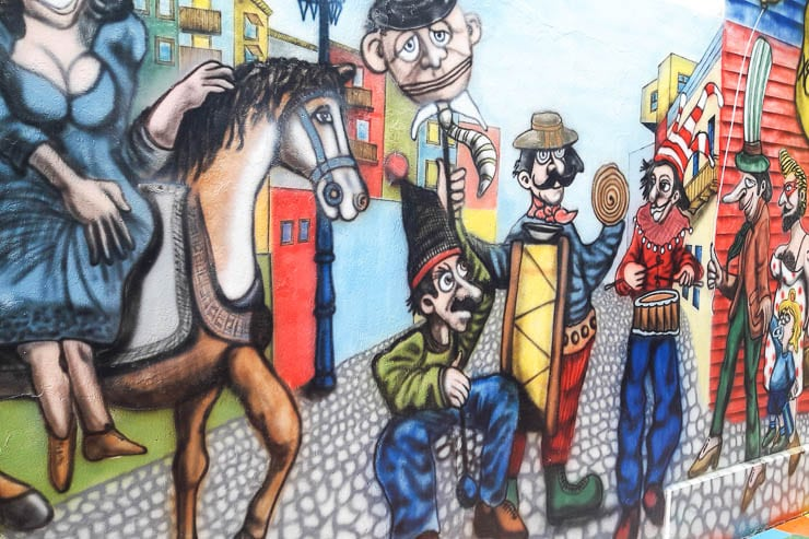 Street art in the Boca Neighborhood - The Top 18 Things to Do in Buenos Aires