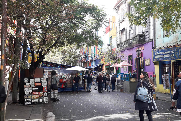 Busy streets in La Boca Neighborhood - The Top 18 Things to Do in Buenos Aires